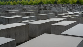 Um dia chuvoso no memorial do holocausto Fotografia de Stock