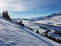 Um dia de inverno fino em Alberta Canada foto de stock