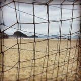 Um dia de inverno na praia de Copacaba Fotografia de Stock Royalty Free