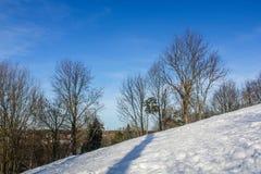 Um dia de inverno na região de Leninegrado Fotos de Stock Royalty Free