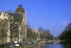 Um dia de inverno torrado em Amsterdão Foto de Stock