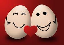 Um dia de Valentim feliz meu coração do vermelho do amor do ovo ilustração do vetor