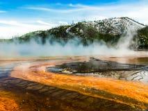 Um dia em Yellowstone Fotos de Stock Royalty Free