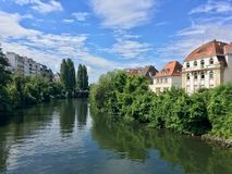 Um dia ensolarado em Strasbourg Foto de Stock