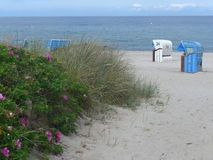 Um dia ensolarado na praia Fotografia de Stock