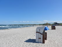 Um dia ensolarado na praia Foto de Stock Royalty Free
