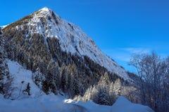Um dia ensolarado no Mountians no inverno imagem de stock royalty free