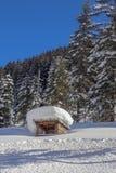 Um dia ensolarado no Mountians no inverno imagem de stock