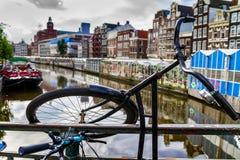 Um dia fino em Amsterdão romântica, Países Baixos Foto de Stock