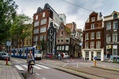 Um dia fino em Amsterdão romântica, Países Baixos Fotos de Stock Royalty Free