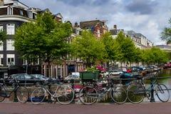 Um dia fino em Amsterdão romântica, Países Baixos Imagens de Stock Royalty Free