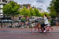Um dia fino em Amsterdão romântica, Países Baixos Fotos de Stock