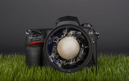 Um dia mau do golfe Fotos de Stock Royalty Free