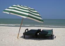 Um dia na praia Fotos de Stock Royalty Free