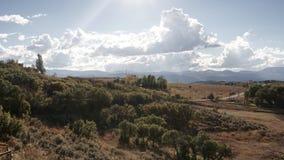 Um dia nebuloso da montanha em Colorado Foto de Stock