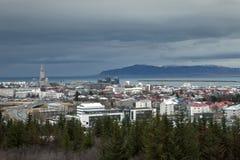 Um dia nebuloso em Reykjavik Imagens de Stock Royalty Free