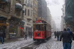 Um dia nevado imagens de stock