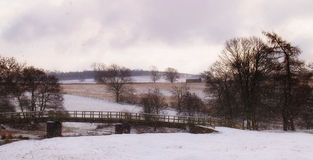 Um dia nevado no distrito inglês do lago Fotografia de Stock Royalty Free