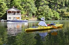 Um dia no lago Fotos de Stock Royalty Free