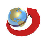 Um die Erde Lizenzfreies Stockbild