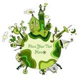 Um die grüne Biowelt Stockbild