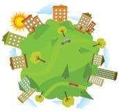 Um die grüne Welt stock abbildung