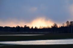 Um die Sonnenuntergangzeit stockfoto