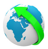Um die Welt Lizenzfreies Stockfoto
