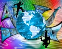 Um die Welt Stockfotos