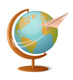 Um die Welt Lizenzfreies Stockbild
