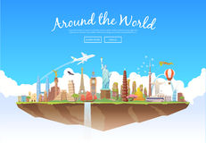 Um die Welt Stockfoto