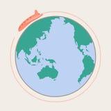 Um die Welt Lizenzfreie Stockfotos