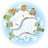 Um die Welt - Winter lizenzfreie abbildung