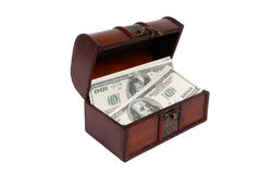 Um dinheiro na caixa Imagem de Stock