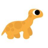 Um dinossauro alaranjado dos desenhos animados bonitos do vetor isolado Ilustração Stock