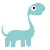 Um dinossauro azul dos desenhos animados bonitos do vetor isolado Ilustração do Vetor