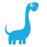 Um dinossauro azul dos desenhos animados bonitos do vetor isolado Ilustração Royalty Free