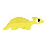 Um dinossauro bonito do amarelo dos desenhos animados do vetor isolado Ilustração Royalty Free
