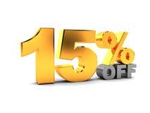 um disconto de 15 por cento Fotografia de Stock Royalty Free
