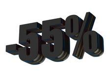 um disconto de 55 por cento ilustração stock