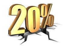 um disconto de 20 por cento ilustração stock
