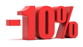um disconto de 10 por cento Fotografia de Stock