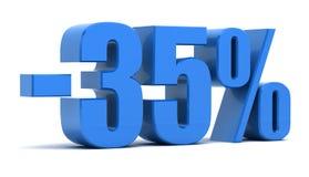 um disconto de 35 por cento ilustração stock