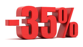 um disconto de 35 por cento Imagens de Stock Royalty Free