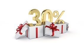 um disconto de 30 por cento Imagem de Stock Royalty Free