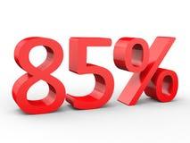 um disconto de 85 por cento Números 3d vermelhos no fundo branco isolado ilustração royalty free