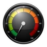 Um dispositivo do medidor de velocidade ilustração do vetor