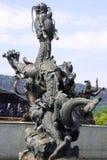Um do banho por nove dragões Imagem de Stock