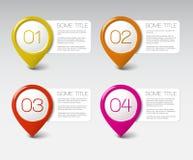 Um dois três quatro - ícones do progresso do vetor Imagem de Stock