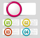 Um dois três quatro - ícones do progresso do vetor Foto de Stock